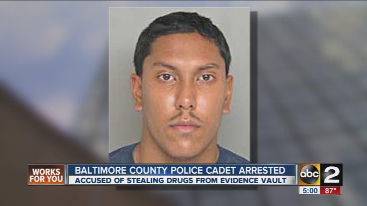 Baltimore County Police Cadet Arrested For Raiding Evidence Locker Of Drugs Youtube