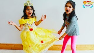 Ashu and Katie wants same Princess Dress Fun Play by Katy Cutie Show