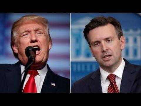 Donald Trump, Josh Earnest trade jabs over Russian hackers