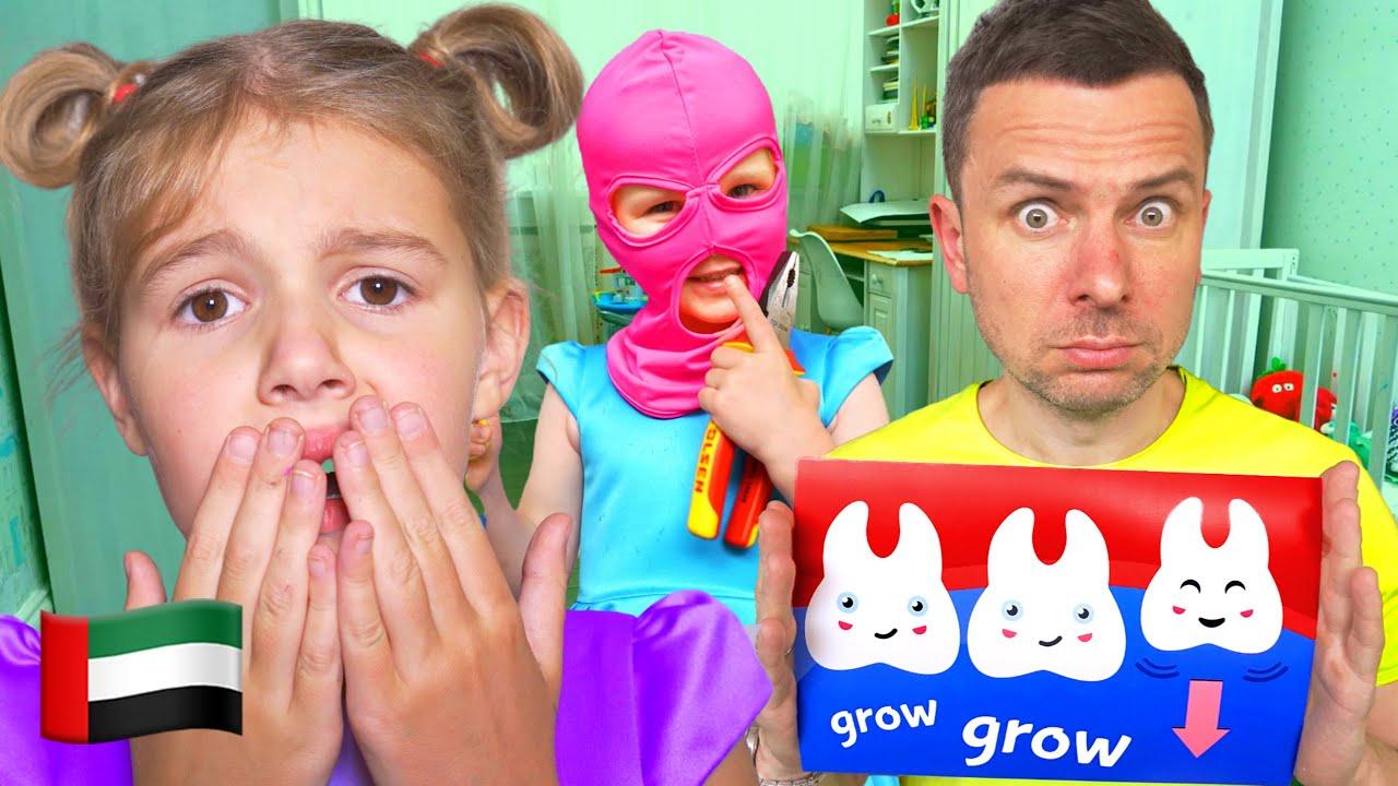 يتحول خمسة اطفال إلى فيديو أبطال للأطفال