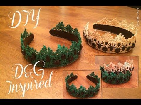 Как сделать корону своими руками из ободка