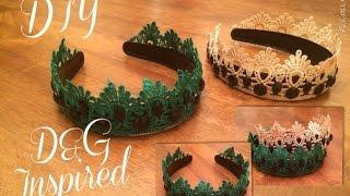 DIY: Как сделать Ободок (тиара/корона) в стиле D&G(Спасибо за просмотр! Ставьте лайки, оставляйте комментарии, Подписывайтесь на мой канал! Ссылки Vk: http://vk.com/dn..., 2014-11-20T09:58:09.000Z)