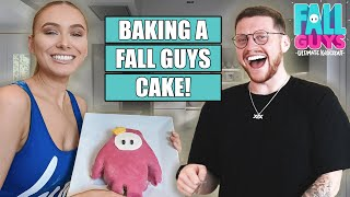 BAKING A FALL GUYS CAKE with BEHZINGA!!