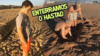 ENTERRAMOS O HASTAD NA AREIA!! ft SEVEN, HASTAD E MARCELA!! #MIXVLOGS