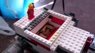 LEGO shredder eats 40 shreddies in 1 go!