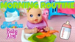 Baby Alive Kicks & Cuddles Newborn - Violet's 🌸 Morning Routine by Skye! 👶🏼🍼💞