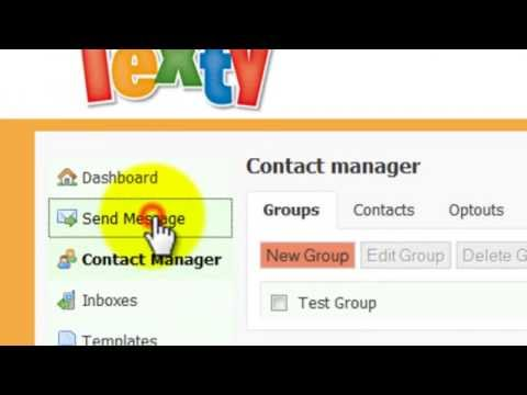 How To Upload Excel Data To Send Out Text Messages With Www.texty.co.uk