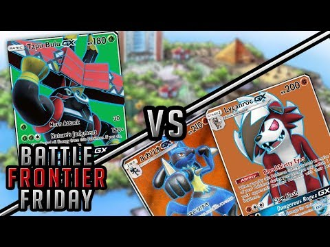 Tapu Bulu vs Lucario/Lycanroc Pokemon TCG Matchup   Battle Frontier Friday #46