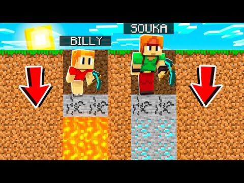 MINECRAFT mais le premier qui tombe A PERDU !! Souka vs Billy vs Eva