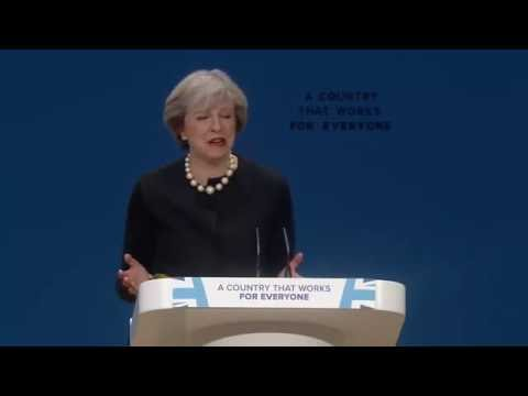 Theresa May Speech At conservative party conference. /Brexit/ Europe/ pass our own laws|
