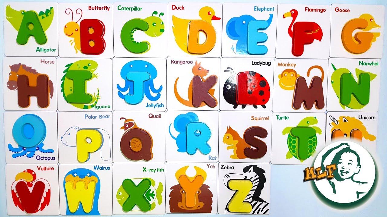 用動物字母卡學A至Z - YouTube