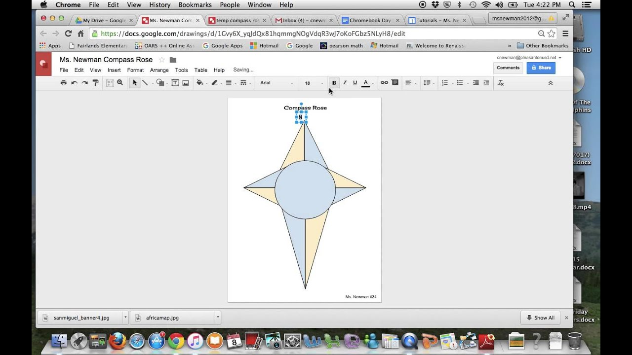 Compass rose in google drawing youtube compass rose in google drawing ccuart Images