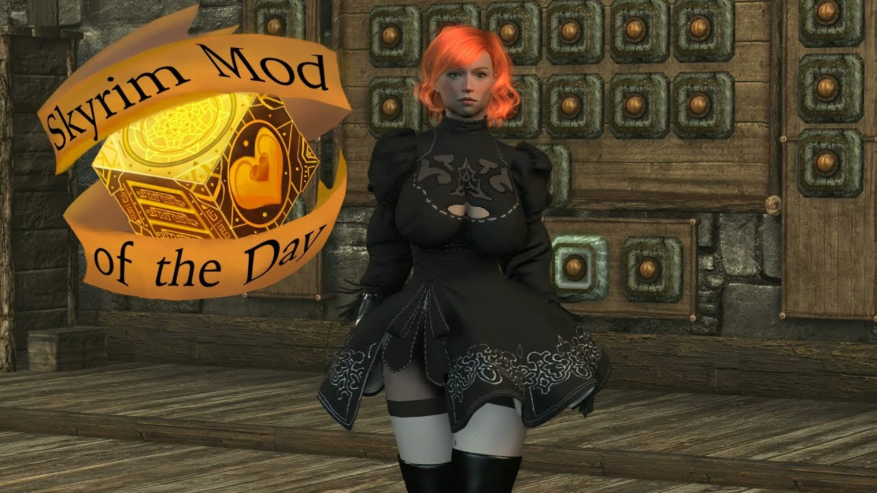 Skyrim Mod of the Day: CBBE - (Inspired) 2B Clothes