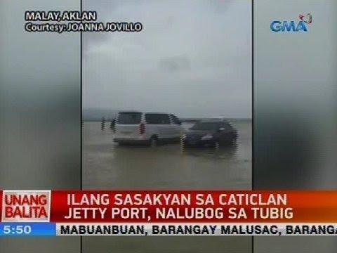 UB: Ilang sasakyan sa Caticlan Jetty Port, nalubog sa tubig