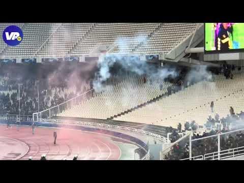 Chaos in Athene: AEK- en Ajax-fans gooien met vuurwerk