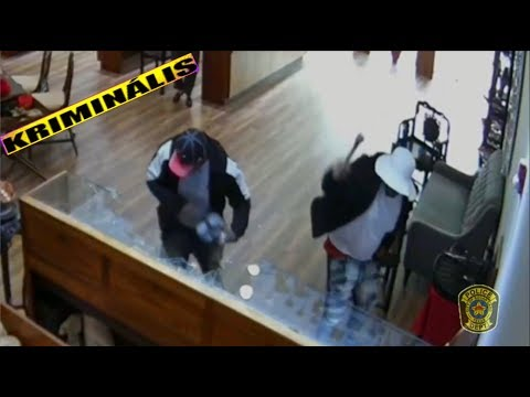 USA - Video Shows Smash-and-Grab Suspects in $2 Million Jewelry Heist / KRIMINÁLIS