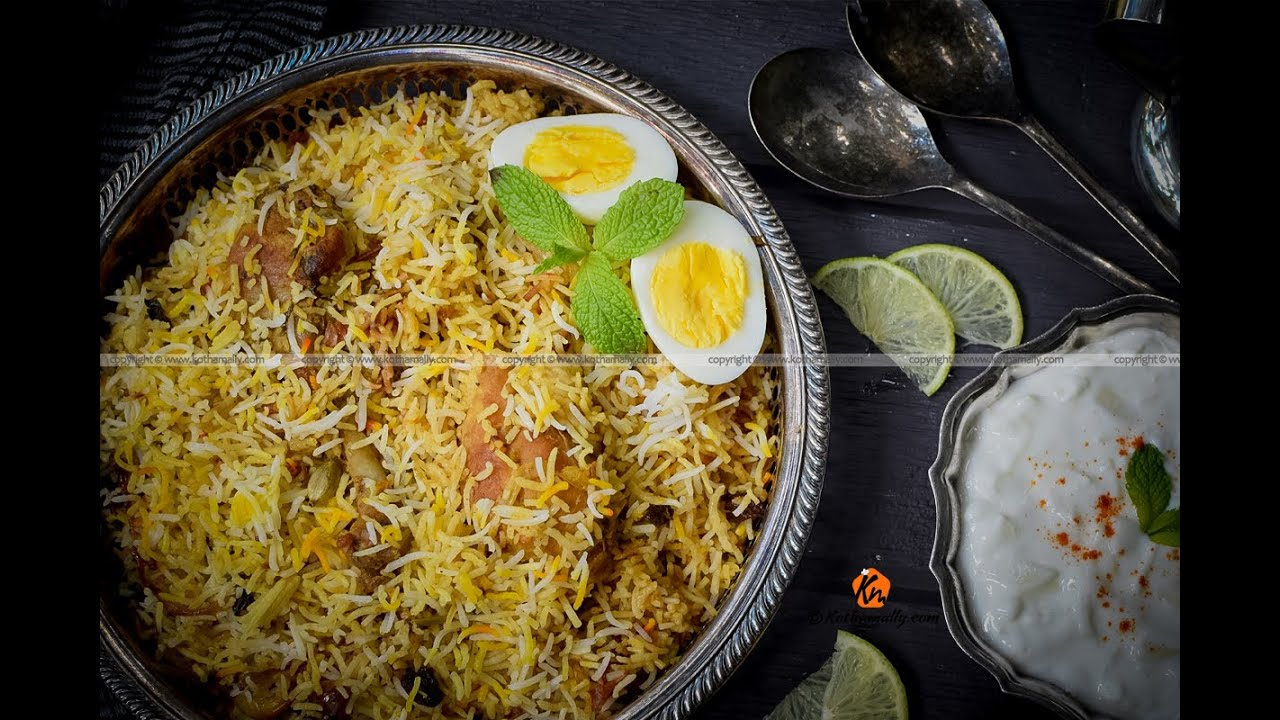 Fried Chicken Biryani, Kerala style - Kothamally - YouTube