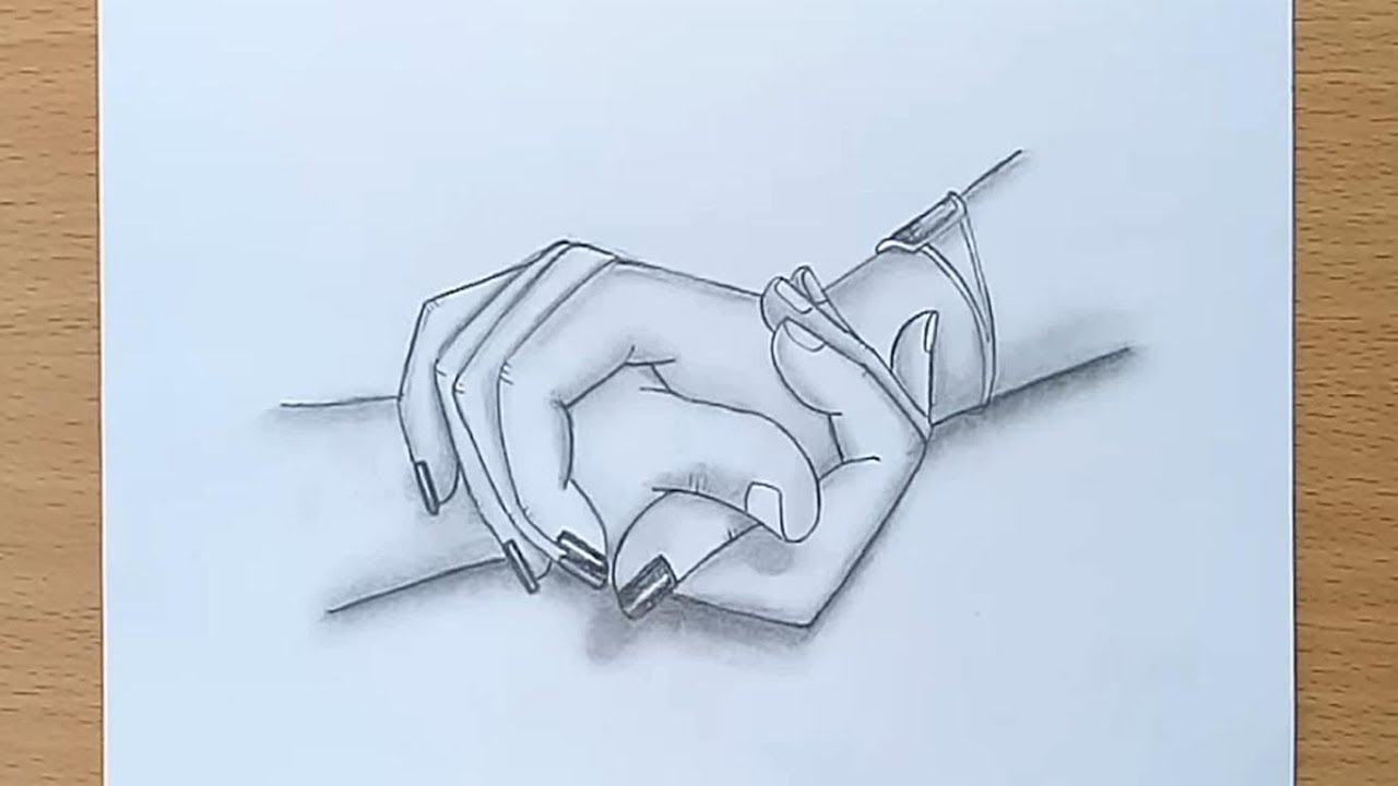 Holding Hands pencil sketch  How to draw Holding Hands