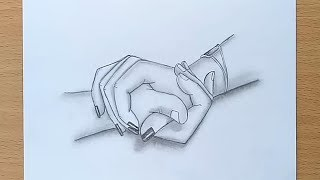 Holding Hands pencil sketch / How to draw Holding Hands