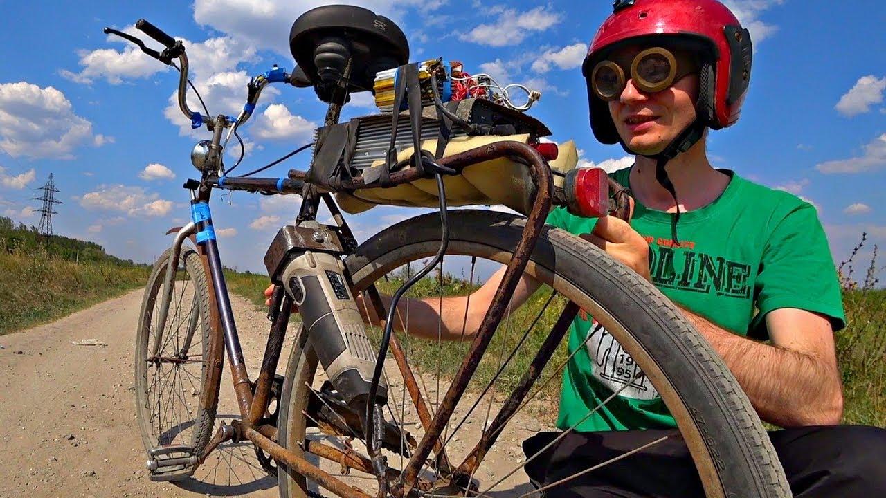 Самодельный электрический велосипед из БолгаркиЭлектро Байк своими руками