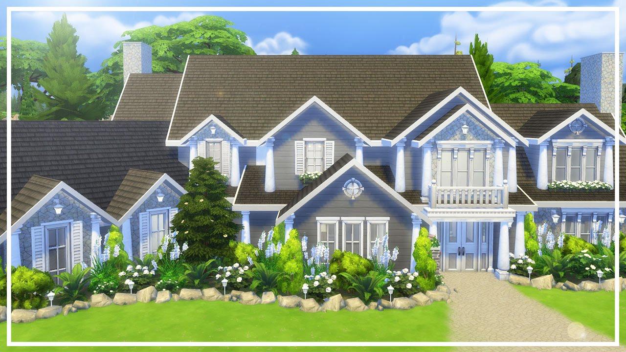Hillside Manor: HILLSIDE MANOR // The Sims 4: Speed Build #1