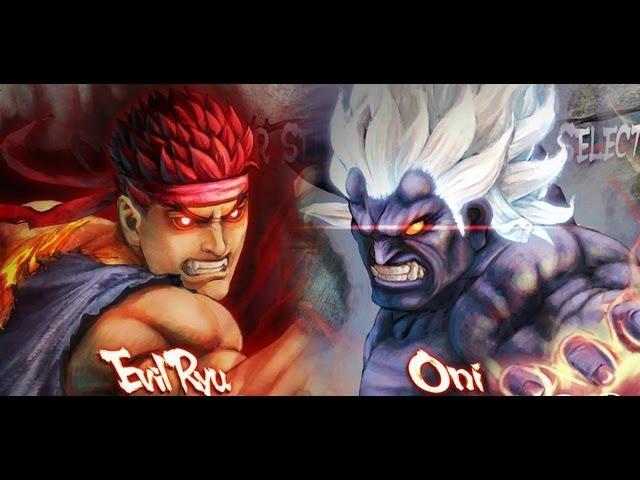 Super Street Fighter IV Arcade Edition PC - Evil Ryu vs Oni