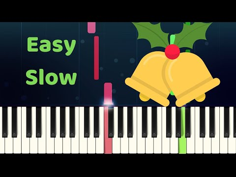 CAROL OF THE BELLS - Easy Slow Piano Tutorial with SHEET MUSIC thumbnail
