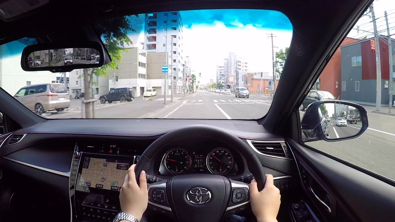 test drive 2017 new toyota harrier 2 0turbo 4wd pov city drive funnycat tv. Black Bedroom Furniture Sets. Home Design Ideas