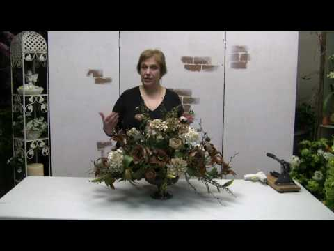 How To Make A Traditional Floral Centerpiece Arrangement With Silk Flowers - Part 1