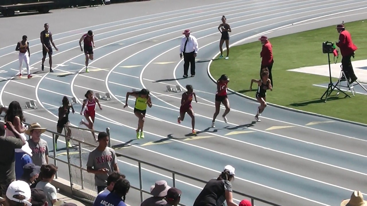 20 MAY 2017 DIV1 GIRLS 100M CIF SOUTHERN SECTION ...
