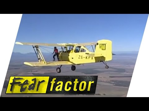 Walking On The Wing Of A Bi-Plane | Fear Factor Extra