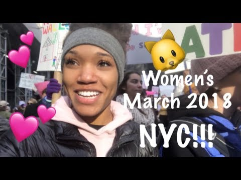 WOMEN'S MARCH 2018 NYC!!! | Creole Kourt