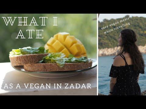 WHAT I ATE VEGAN IN ZADAR // croatia travel vlog