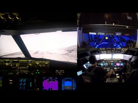Denver to Aspen in Bad Weather (6 DoF Full Motion 738 sim)