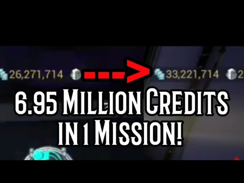 Warframe - 6.9 Million Credits In 1 Mission! (7 Round Index) Best Endurance Credit Farm Team!