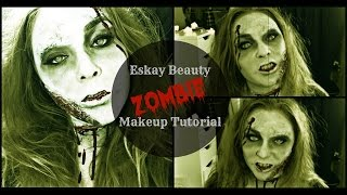 Zombie Halloween Makeup Tutorial Thumbnail