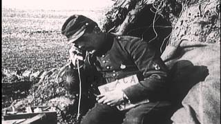 French Army telephone communications in the field during World War I HD Stock Footage