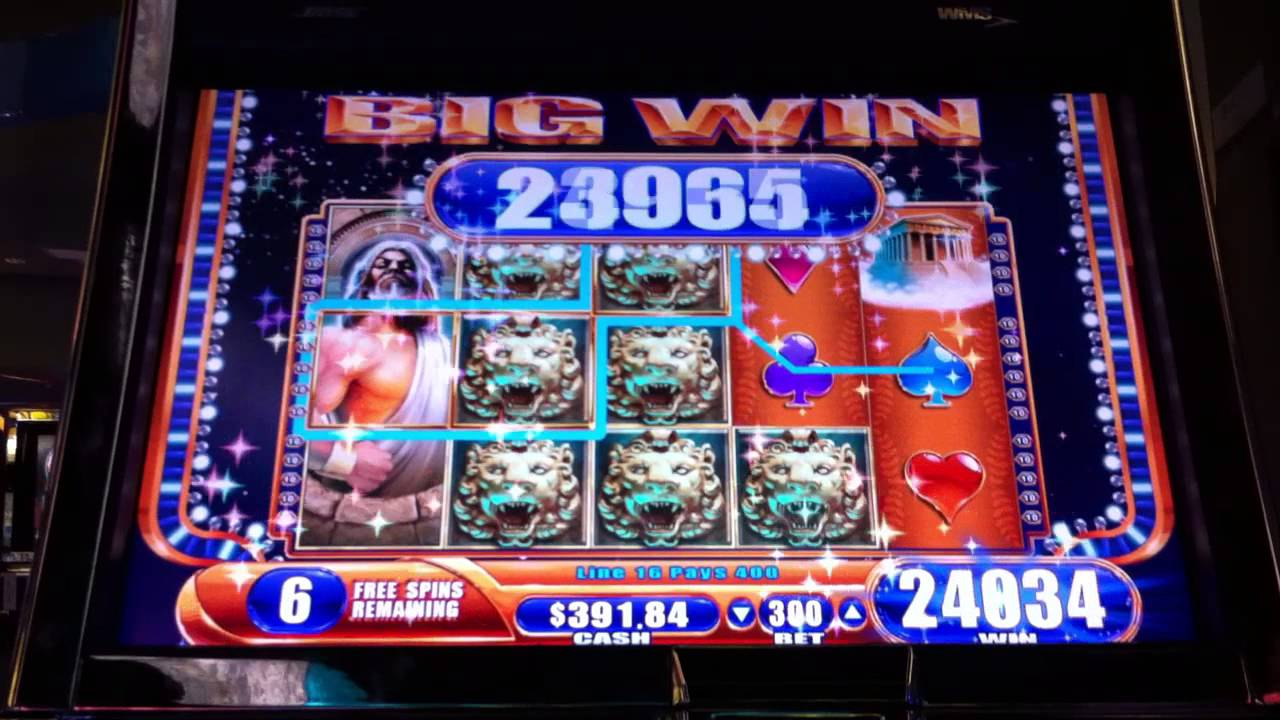 video slot machine wins