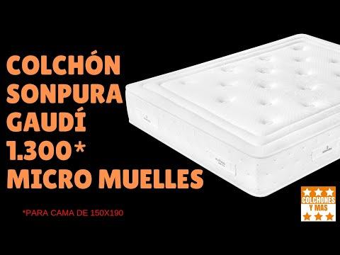 COLCHÓN SONPURA GAUDÍ - 1300 MICROMUELLES ENSACADOS
