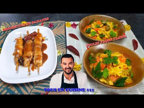 tous-en-cuisine-#11-:-je-teste-le-poulet-faÇon-tajine-et-les-brochettes-de-bananes-de-cyril-lignac-!
