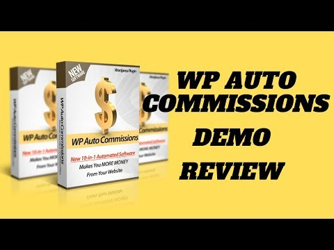 WP Auto Commissions Demo. http://bit.ly/2Zu27Ph