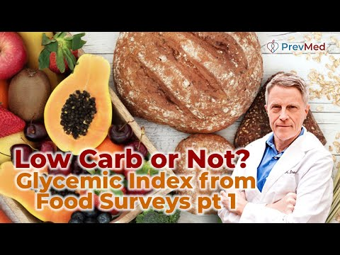 Low Carb or Not? - Glycemic Index from Food Surveys pt 1- FORD BREWER MD MPH