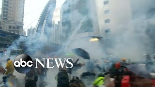 Police fire warning shots, tear gas amid Hong Kong protests | ABC News