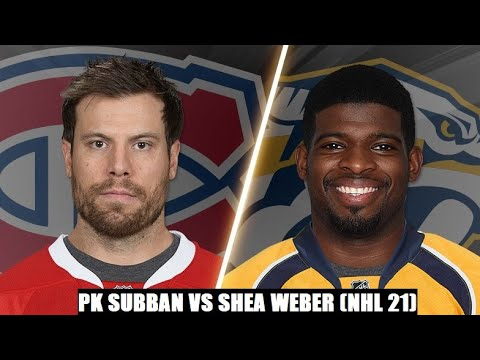 PK Subban vs Shea Weber NHL 21 Video