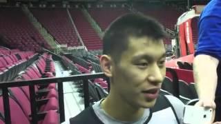 2013 05 03 季後賽g6 林書豪賽前練習採訪 jeremy lin talks to media following friday s practice