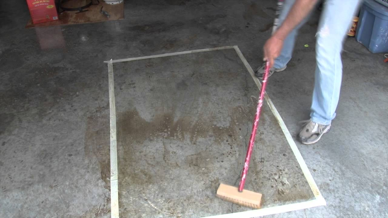 Removing stains from concrete floors meze blog for Clean oil from concrete