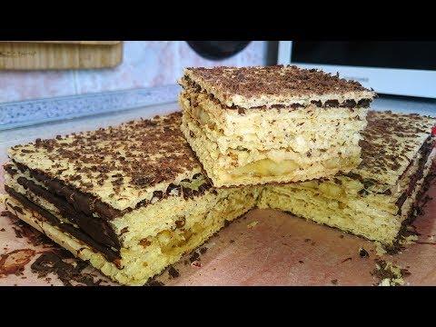 Тортик по-простому из вафельных коржей