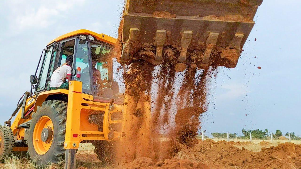 JCB 3DX to Planting Lemon Trees On the New Farm | jcb video