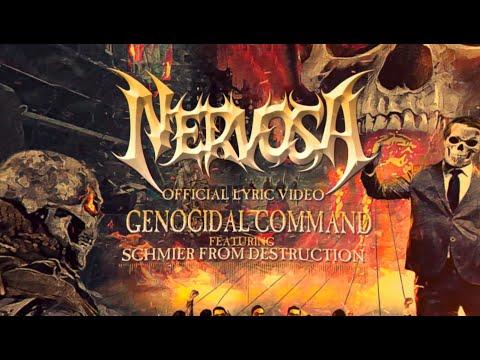 Vídeo de NERVOSA «Genocidal Command» con Schmier de Destruction