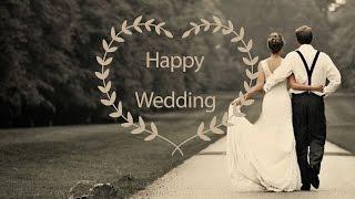 結婚式プロフィールムービー素材 オシャレなタイトル